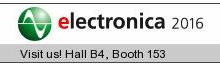 Visit us on ELECTRONICA fair in Munich, November 8-11